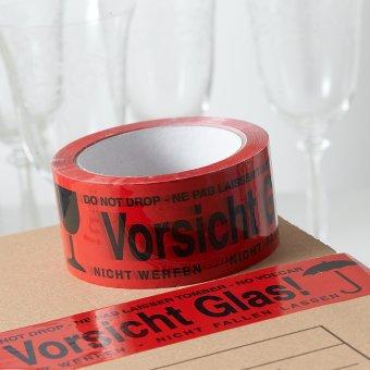 verpacken und kennzeichnen mit dem klebeband pp vorsicht glas. Black Bedroom Furniture Sets. Home Design Ideas
